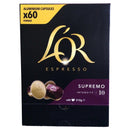 L'or Espresso Supremo Intensity Coffee Capsule 60 capsuls, Intensity 10