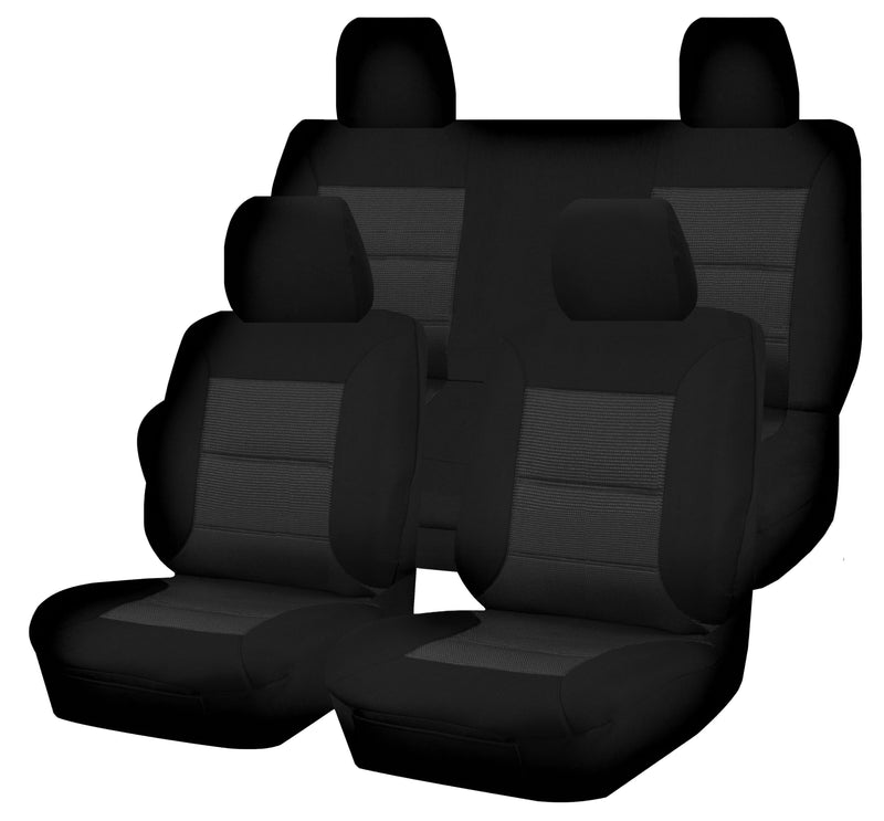 Tailor Made Premium Seat Covers for NISSAN NAVARA D23 SERIES 3-4 NP300 11/2017-ON DUAL CAB UTILITY BLACK
