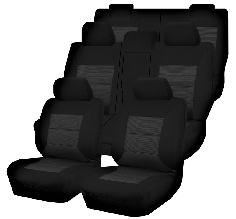 Tailor Made Premium Seat Covers for MITSUBISHI PAJERO SPORT QE SERIES 10/2015-ON 4X4 SUV/WAGON 7 SEATER BLACK