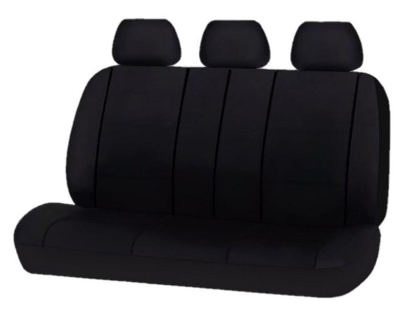 Universal Platinum Rear Seat Covers Size 06/08S - Black