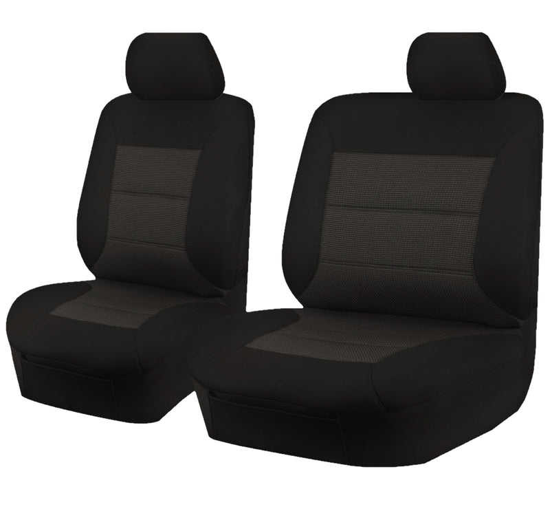 Tailor Made Premium Seat Covers for TOYOTA HILUX  04/2005-06/2015 SINGLE/DUAL CAB UTILITY BLACK