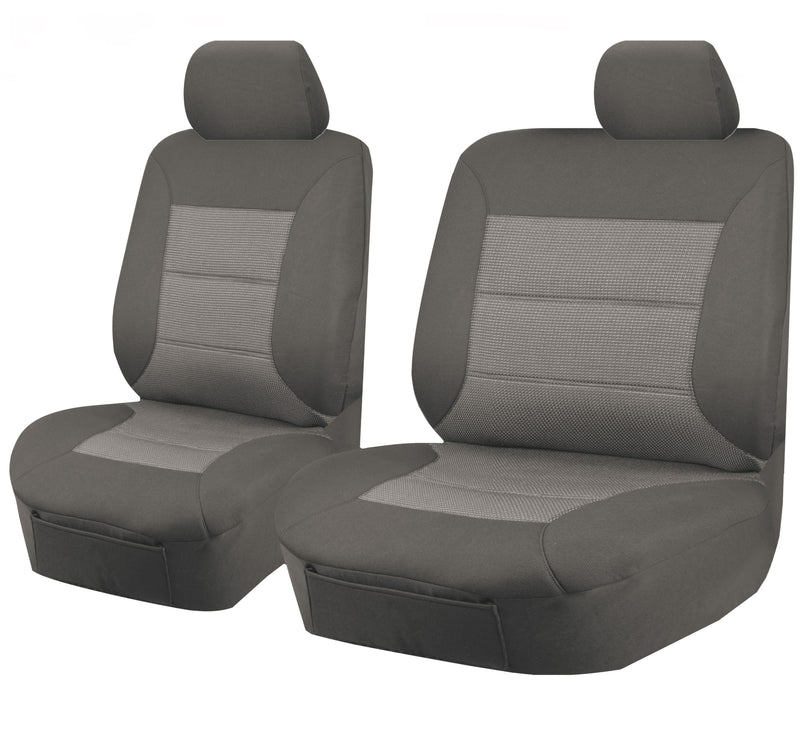 Tailor Made Premium Seat Covers for MAZDA BT50 UP SERIES 10/2011-2016 SINGLE CAB CHASSIS GREY