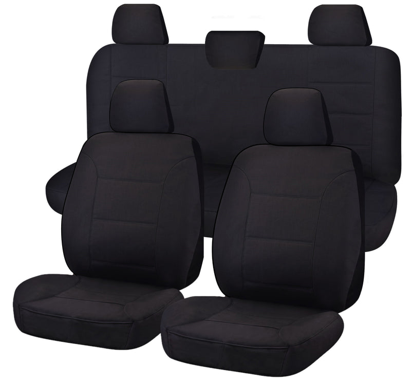 Tailor Made Challenger II Seat Covers for VOLKSWAGEN AMAROK 2H SERIES 02/2011-ON DUAL CAB UTILITY BLACK