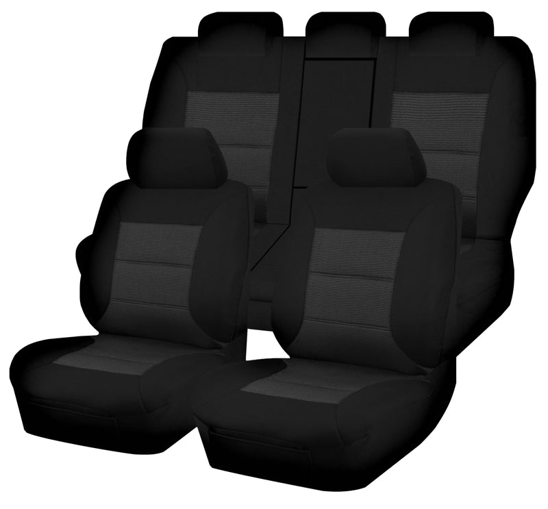 Tailor Made Premium Seat Covers for TOYOTA RAV4 ALA49R/ASA44R/ZSA42R SERIES 02/2012-12/2018 5 SEATER BLACK