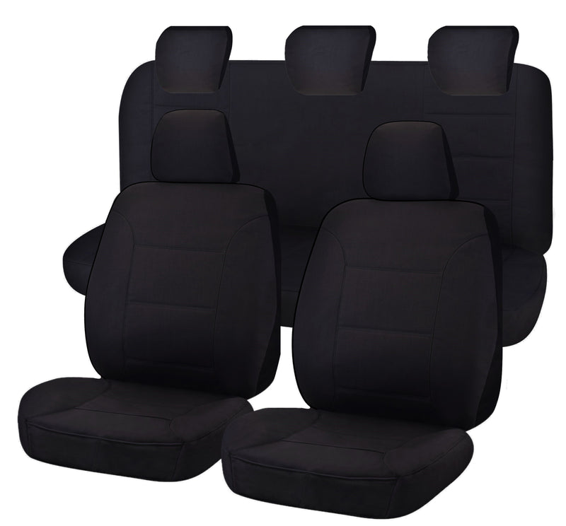 Tailor Made All Terrain Seat Covers for FORD RANGER PXII-PXIII SERIES 06/2015-ON DUAL CAB UTILITY  BLACK