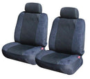 Seat Covers for Toyota Landcruiser 100 Series Wagon 03/1998 - 10/2007 GREY 3ROWS