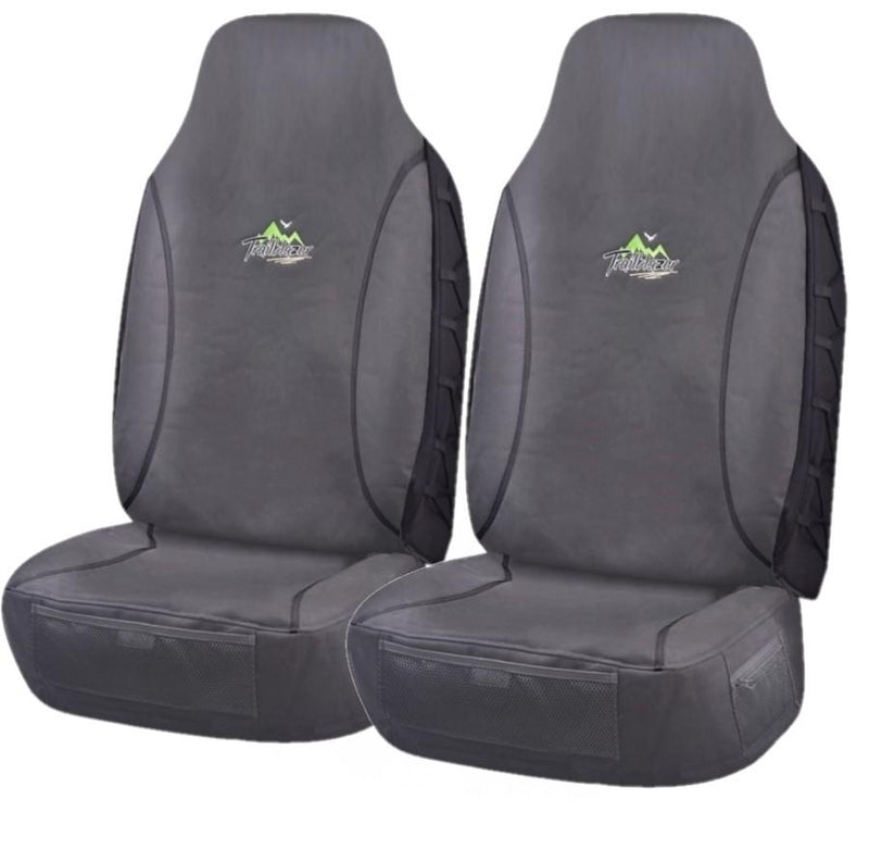 Tailor Made Trailblazer Seat Covers for TOYOTA HILUX 07/2015-ON SINGLE  CAB CHASSIS CHARCOAL