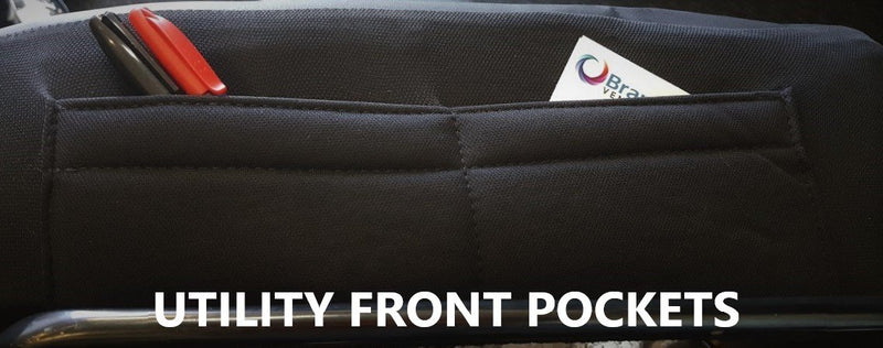 Universal Lavish Front Seat Covers Size 30/35 - Black/Red Stitching