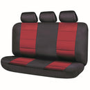 Universal El Toro Series II Rear Seat Covers Size 06/08H - Black/Red