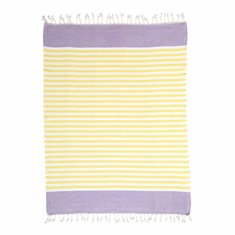 Shopstraya Neon Turkish Towel -  Lemon Striped