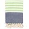 Shopstraya Neon Turkish Towel -  Lime Striped