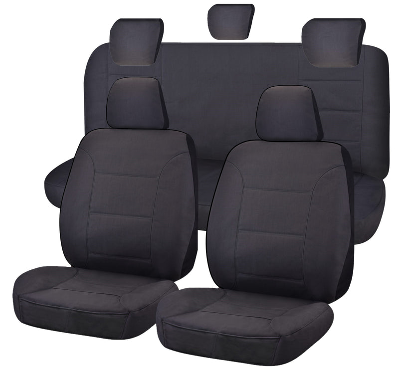 Tailor Made Challenger II Seat Covers for TOYOTA HILUX  04/2005-06/2015 DUAL CAB UTILITY CHARCOAL