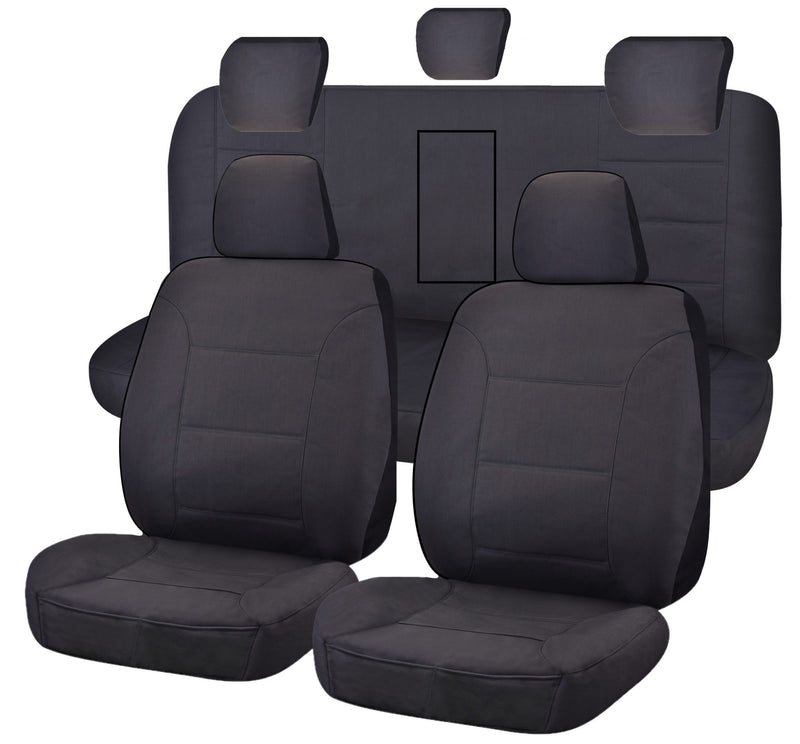 Tailor Made All Terrain Seat Covers for ISUZU D-MAX 06/2012-ON DUAL CAB UTILITY CHARCOAL
