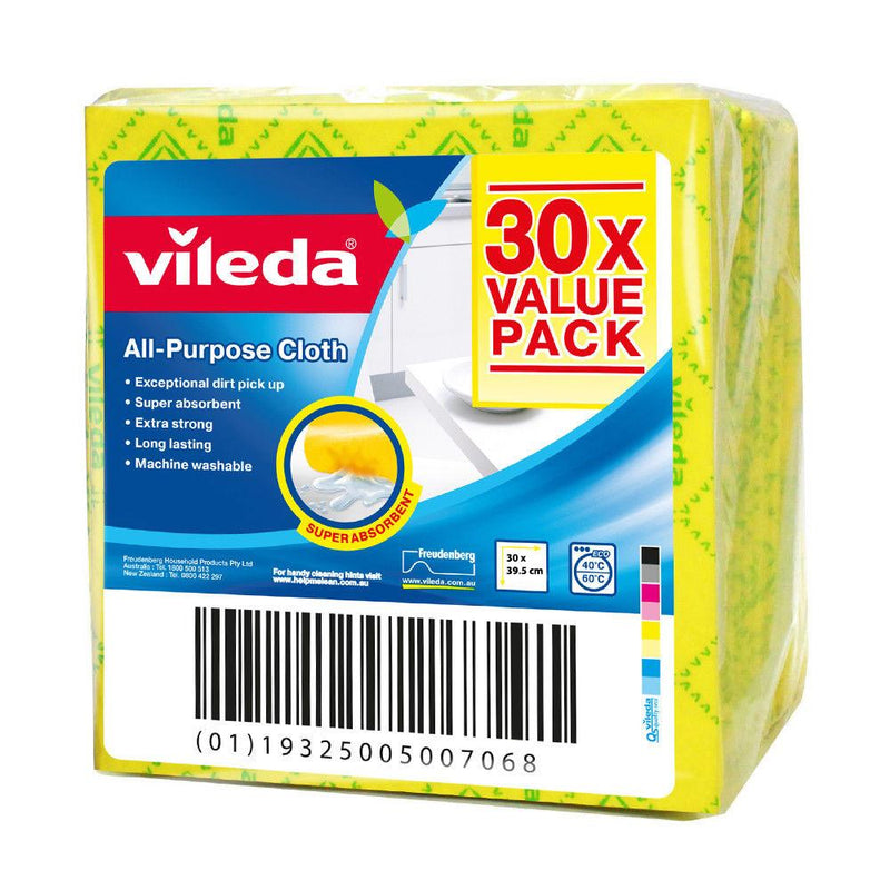 Vileda All Purpose Cloth 30 Pk