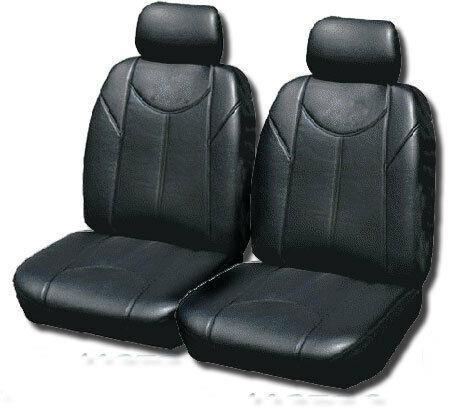 Leather Look PVC Seat Covers for Toyota Kluger 7 10/2010 - 02/2014 BLACK 3ROW