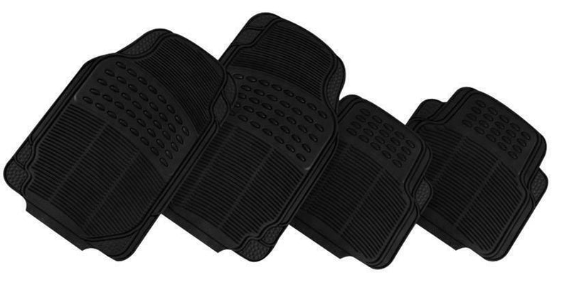 THUNDER 4-Piece Car Mat - BLACK [Rubber]