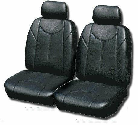 Leather Look PVC Seat Covers for Mitsubishi Outlander 11/2006-10/2012 BLACK 2ROW