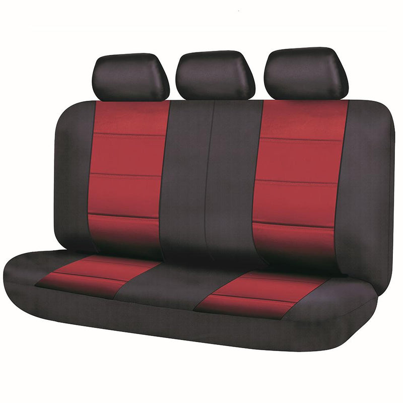 Universal El Toro Series II Rear Seat Covers Size 06/08S - Black/Red