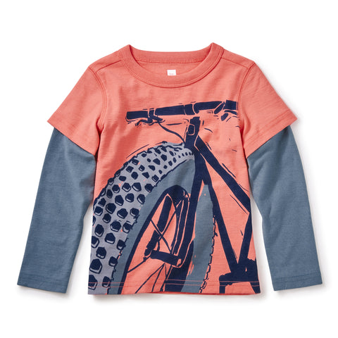 Fat Bike Graphic Tee by Tea Collection