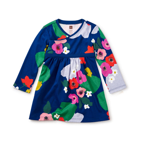Scotland Garden Wrap Neck Baby Dress by Tea Collection - Size 9-12m