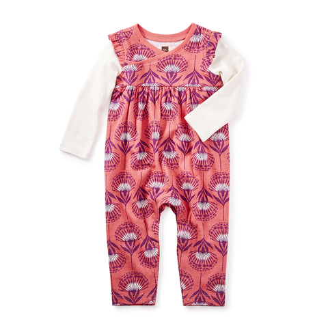 St. Kilda Wrap Neck Romper by Tea Collection - Size 9-12m