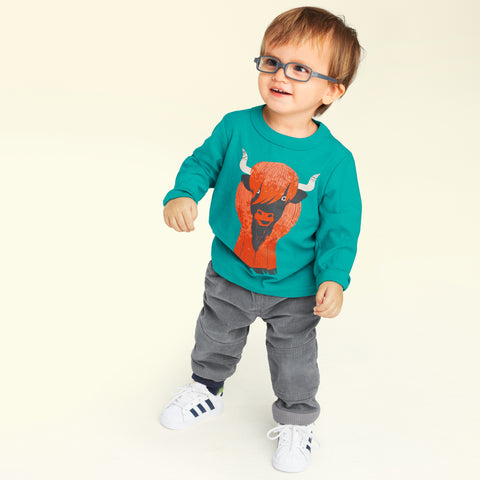 Heeland Coo Baby Boy Graphic Tee by Tea Collection