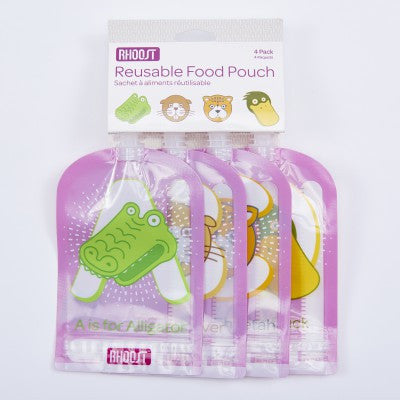 Reusable Food Pouch by Rhoost (4-pack)