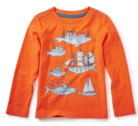 Fish & Ships Graphic Tee by Tea Collection