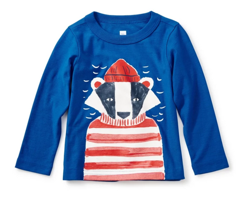 Salty Badger Baby Graphic Tee by Tea Collection
