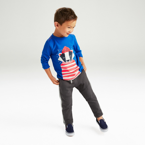 Salty Badger Boys' Long Sleeve Graphic Tee by Tea Collection