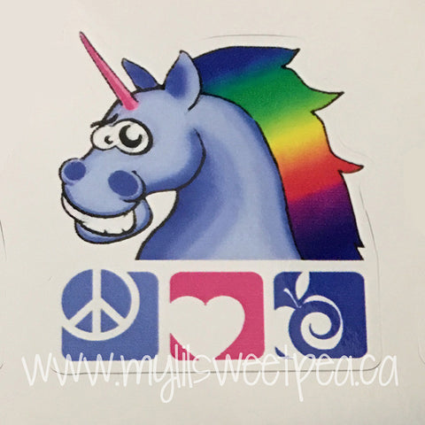PLAC Unicorn Sticker