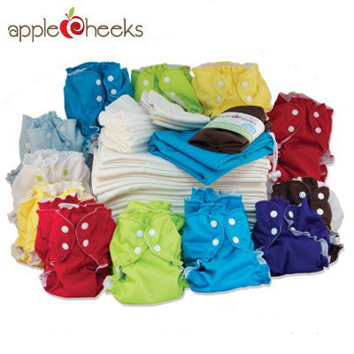 AppleCheeks Full Time Cloth Diapering Kit - Both Sizes
