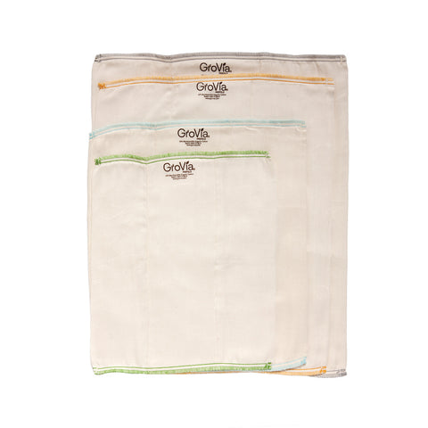 GroVia Prefolds (3-pack)