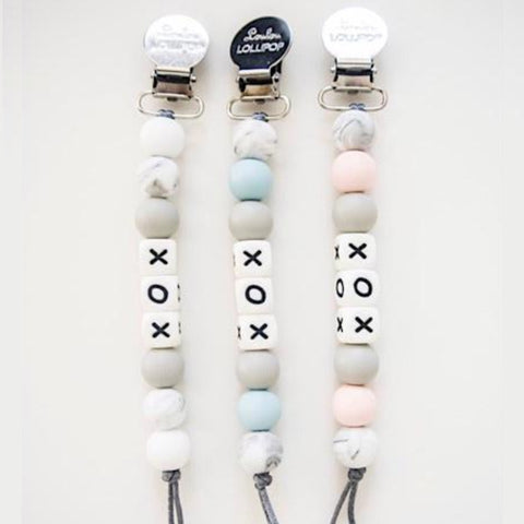 loulou lollipop XOX pacifier clip