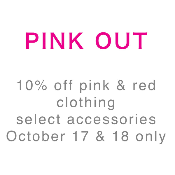 Join Us For Pink Out