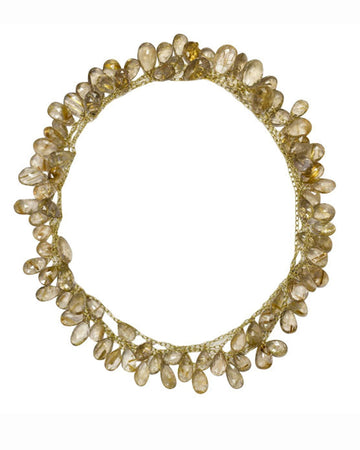 Cathy Waterman Jewelry Curvy Wheat Necklace Cathy Waterman <br> Rutilated Quartz Fringe Necklace