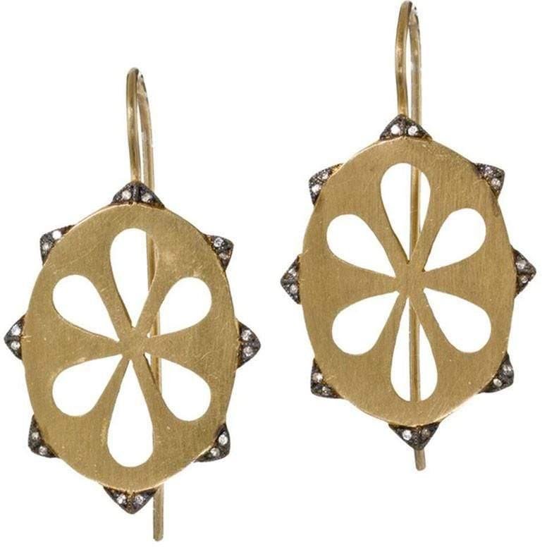 Cathy Waterman Jewelry Pyramid Edge Illusion Earrings Cathy Waterman <br> Pyramid Edge Illusion Earrings