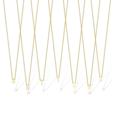 Gabriela Artigas Necklace Single Initial Necklace 14K Gold