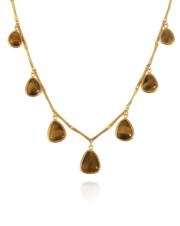 Pippa Small Jewelry Pippa Small | Turquoise Mountain Moora with Tiger's Eye Necklace
