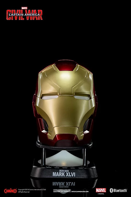 Coluna Bluetooth Mini Iron Man  Marvel
