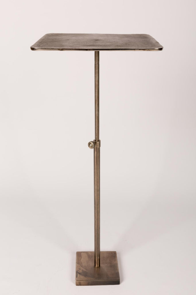 Nickel Drinks Table with Telescoping Base - Two Sizes Available