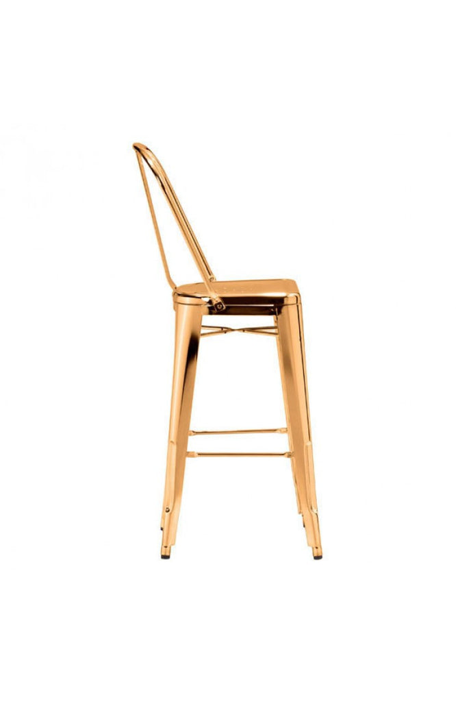 Elio Modern Gold Bar Stool