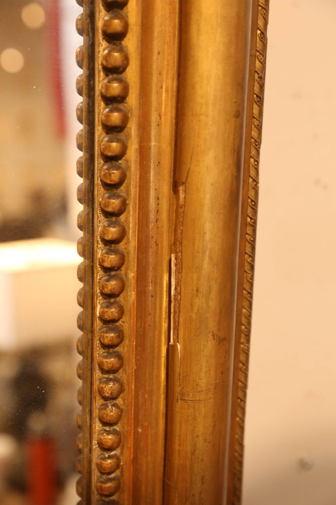 Large Antique French Gilt Louis Philippe Floor Mirror