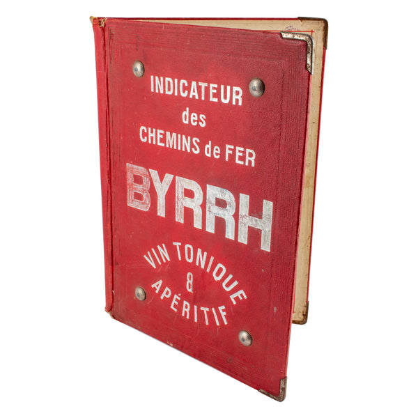 Vintage French Byrrh Aperitif Advertisement Menu Folio