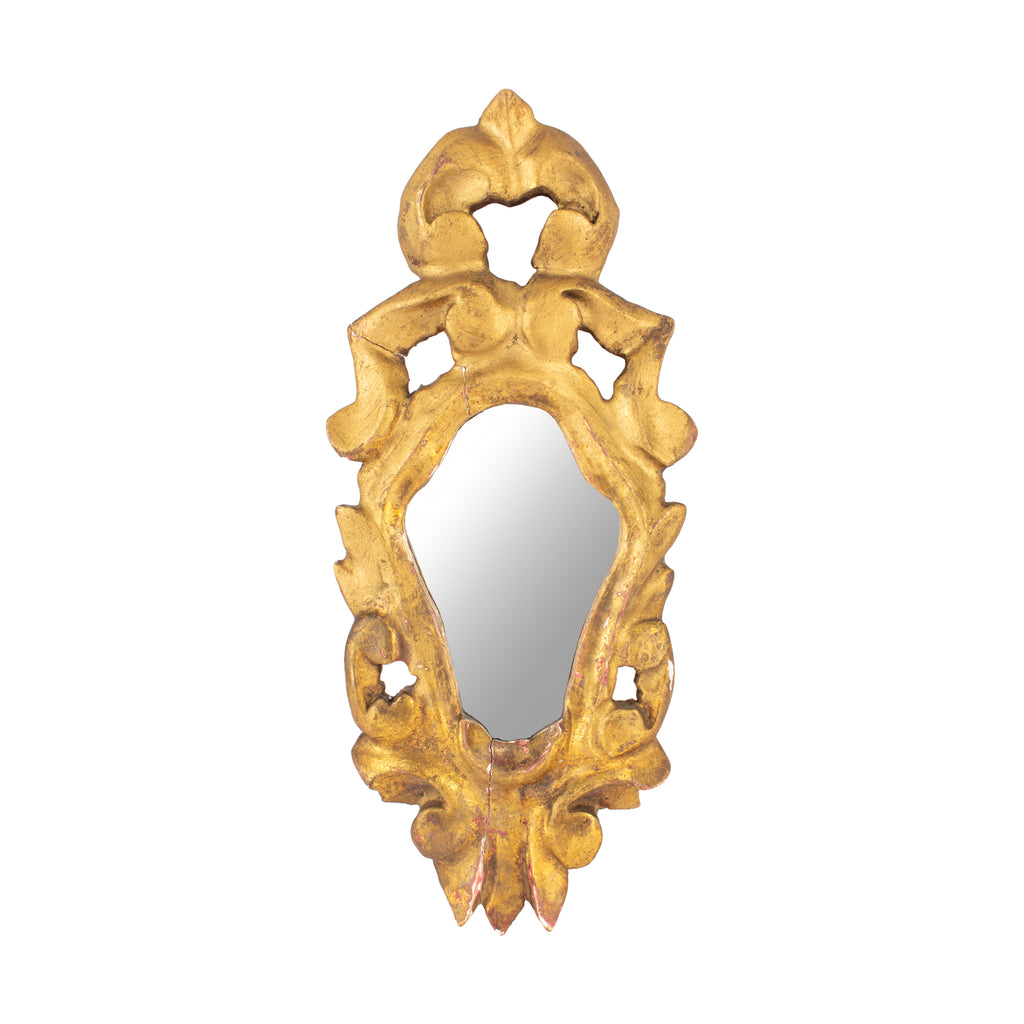Small Antique French Gilt Mirror