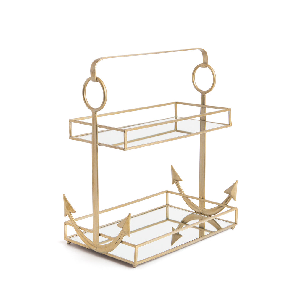 Two-Tier Mirrored Anchor Tray