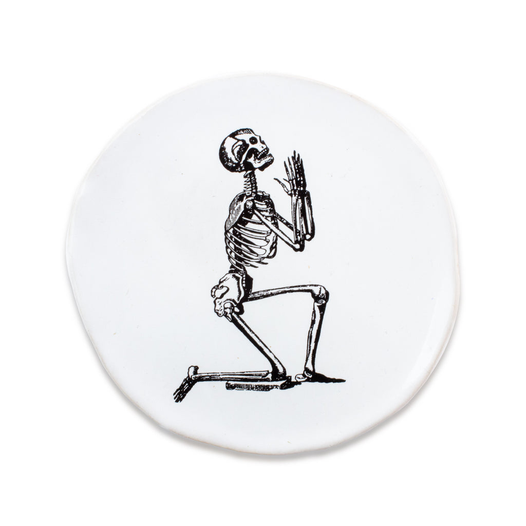 Kuhn Keramik Very Small Plate - Praying Skeleton