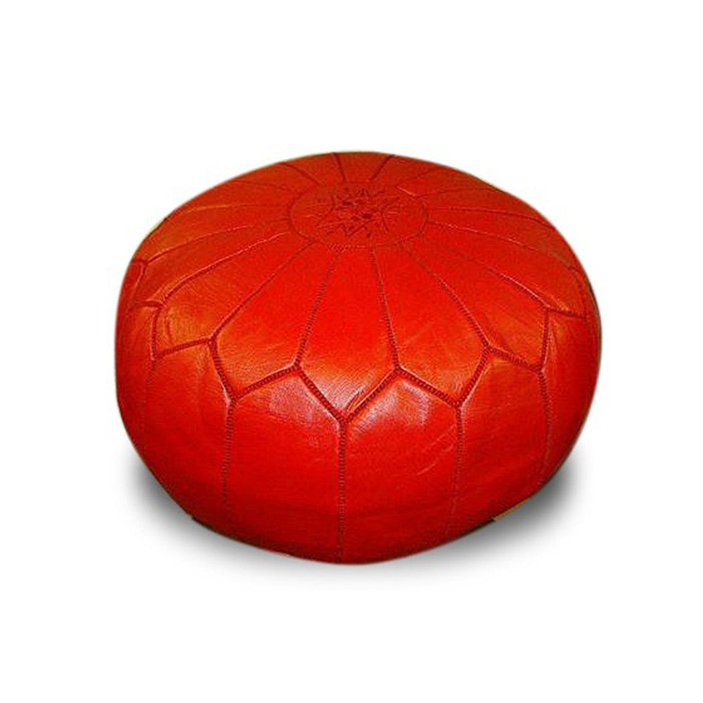 Moroccan Colorful Leather Poufs