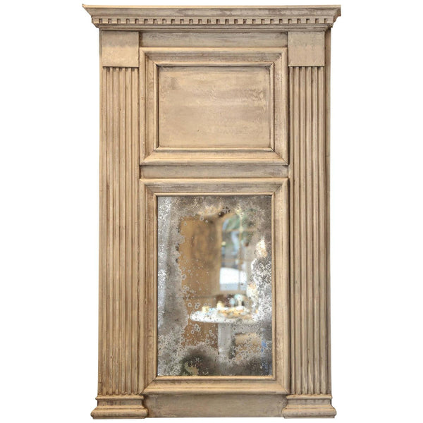 Trumeau Mirror with Antiqued Glass