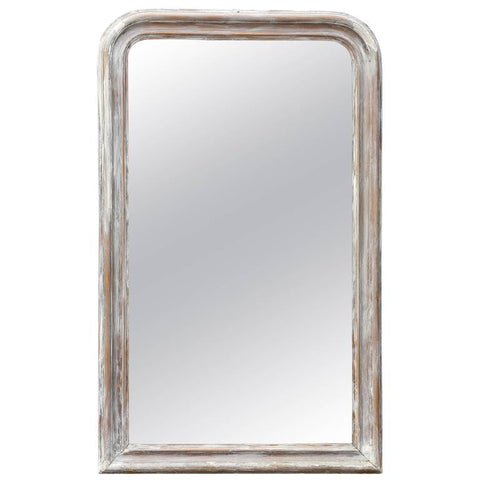 Antique French, Louis Philippe Mirror with Distressed Finish